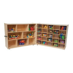 Wood Designs Natural Tray and Shelf Folding Storage with 25 Trays - About WDM Inc.For 30 years, Wood Designs has put passion for the enrichment and safety of children into quality, wooden early learning furniture. Dennis and Debbie Gosney, the couple behind this labor of love, have taken their 50 years combined experience in child development furniture manufacturing and built a company at the forefront of innovation and safety. Intuitive design coupled with novel safety features like Pinch-me-not hinges and Tip resistant furniture set Wood Designs apart from the typical early learning furniture manufacturers.