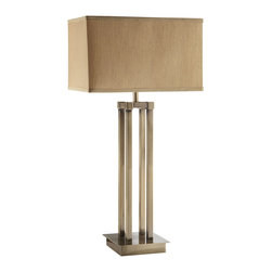Coaster - 901434 Table Lamp - Set of 2 - Table lamp with a linen shade in a brushed champagne chrome finished base.