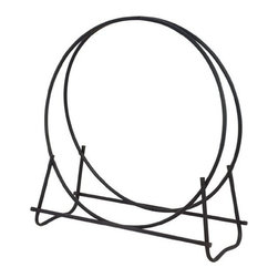 "Blue Rhino - Log Hoop 40"" Black - Uniflame W-1881 43"" High 40"" Black Diameter Log Hoop.  Log hoop stores wood and looks neat and clean as well."