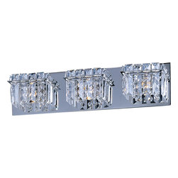 ET2 - ET2 E23253-20PC Bangle Modern / Contemporary Bathroom / Vanity Light - Shimmering like fine jewelry, the Bangle Collection combines strands of square-cut crystal supported by Polished Chrome frames. The clear natural light of xenon lamps enhances the sparkle.