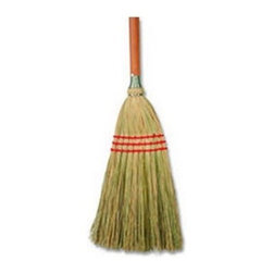 BOARDWALK - BLENDED LOBBY BROOM 9X12 X40 12 - CAT: Mops, Brooms & Brushes Brooms & Accessories Upright--Natural Fiber