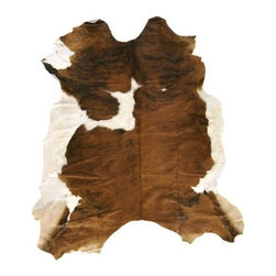 Surya - Duke 1001 7-Foot Brown and White Leather Rug in Animal Shape - Duke animal hide rug is sure to cause a sensation wherever you place it. Crafted by hand by skilled artisans, this 100% all leather brown and white rug is the perfect accent for your rustic cabin or Southwest style home. Unique animal shape lets you know that this rug is the real thing. Why settle for an imitation when you can have the real thing at an amazingly affordable price. Hand Crafted. Made in Argentina. 100% Leather