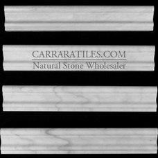 Modern Tile Carrara Marble Italian White Bianco Carrera Crown Molding Honed