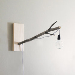 White Birch Branch Pendant Wall/Desk Lamp by Urban + Forest