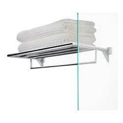 "WS Bath Collections - WS Bath Collections Kubic Class Towel Rack 23.4"" - Features:"