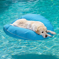 Frontgate - Dog Pool Float and Lounger Dog Bed - Don't forget to include your pet when it comes to poolside fun! This dog pool float and lounger is perfect for keeping your doggie nice and cool on those hot summer days.