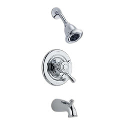 Delta - Delta T17478-H2O Leland Monitor 17 Series Tub and Shower Trim (Chrome) - Delta T17478-H2O Leland Collection offers a timeless design  with elements inspired by a tea pot  with a perfect blend of form and function. The Delta T17478-H2O is a Monitor Tub And Shower Trim in Chrome.