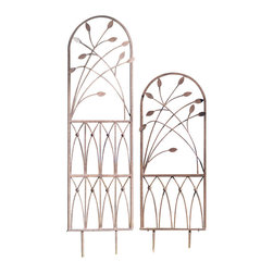 H Potter - H Potter Aspen Trellis Size, Large - Sprouting metal stems are one of the highlights of this endearing trellis. Intertwining your flora and plant life around the stems lends to a creative display.