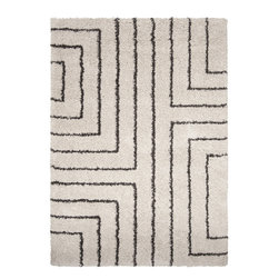 Surya - Kodiak Machine Made Olefin Rug in Ivory and Taupe - This Kodiak Machine Made Olefin Rug in Ivory and Black Olive will bring style and warmth to your home space, and it looks great indoors as well. Made from the same fine 100% Olefin that are used for Machine Made rugs.
