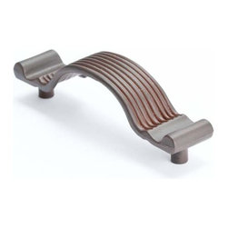 Berenson Decorative Hardware - Berenson American Revival Pull 3  5/16 in. c/c Bronze Rust Glaze -