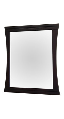 Bellaterra Home - 32 Inch Wood Frame Mirror - Solid wood construction frame with high quality mirror to withstand bathroom humidity.