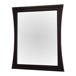 Bellaterra Home - 32 in Wood frame mirror - Solid wood construction frame with high quality mirror to withstand bathroom humidity.