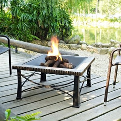 Crosley Firestone Square Slate Fire Pit in Black - Beautifully designed with a gorgeous distressed finish, the Crosley Firestone Square Slate Fire Pit in Black is a sophisticated addition to any deck or patio. Its elegant genuine tile surround is beautifully contrasted by the black steel frame and bowl, creating an elegant look on any patio or deck. Its oversized bowl allows for longer, warmer fires, while the poker makes it easy to stoke the fire to keep it going. Providing a 360 degree view of the fire, along with a dome fire screen, no one will get cold while spending time outdoors during the cool autumn and winter evenings.About Crosley FurnitureIn 1920 Powel Crosley founded the company that pioneered radio broadcasting and mass market manufacturing around the world, starting with a simple radio, meticulously crafted with obsessive detail and accuracy, and a measure of consideration for the wallet. These high ideals have served the company well for over 90 years, and they live on in the newest addition to the family. Crosley Furniture sets a new standard for innovation, function, and meticulous craftsmanship in the manufacture of value-priced furniture. They proudly offer durable furniture products featuring hardwood and veneer construction with rich multi-step finishes in a multitude of styles.