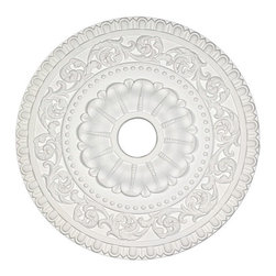 uDecor - MD-7047 Ceiling Medallion - Ceiling medallions and domes are manufactured with a dense architectural polyurethane compound (not Styrofoam) that allows it to be semi-flexible and 100% waterproof. This material is delivered pre-primed for paint. It is installed with architectural adhesive and/or finish nails. It can also be finished with caulk, spackle and your choice of paint, just like wood or MDF. A major advantage of polyurethane is that it will not expand, constrict or warp over time with changes in temperature or humidity. It's safe to install in rooms with the presence of moisture like bathrooms and kitchens. This product will not encourage the growth of mold or mildew, and it will never rot.