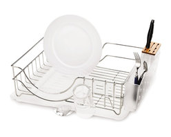 simplehuman - Wire Frame Dishrack - Stylish dish racks are hard to come by, and this one is even more of a boon due to its versatility. It can be positioned with either the long or the short side facing the sink, and the utensil holder and cup holder can also change sides, providing maximum flexibility. The bamboo knife block not only looks sharp, but keep blades sharp too.
