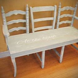 Custom chair bench -