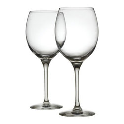 Alessi - Mami XL White Wine Glass Set of 2 by Alessi - The Alessi Mami XL White Wine Glass Set of 2 is just as simply elegant and curvaceous as the rest of the Mami collection. This pair of oversized glasses are made out of pure Clear crystal, with well-balanced forms that are as much a pleasure to hold as they are to look at. Alessi, known as the Italian design factory, has manufactured household products since 1921. The stylish and fun items offered are the result of contemporary partnerships with some of the world's best designers of unique and modern home accessories.