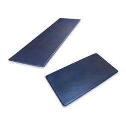 Gelpro - GelPro Original Gel Filled Anti-Fatigue Ostrich Kitchen Mat in Atlantic Blue - The unique grain of ostrich leather is replicated flawlessly on these comfortable mats. The simulated quill bumps give these mats textural and visual interest to add a sophisticated style to any room of your home.