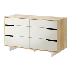 MANDAL 6-drawer dresser - 6-drawer dresser, birch, white