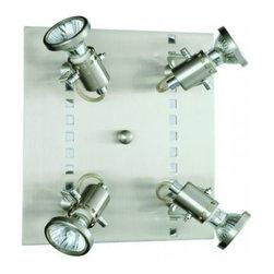 Eglo - Fizz 4 Light Ceiling/Wall Light - Fizz 4 Light Ceiling/Wall Light in Matte Nickel and Chrome Finish.