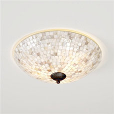 Beach Style Ceiling Lighting Mother of Pearl Ceiling Light - Shades of Light