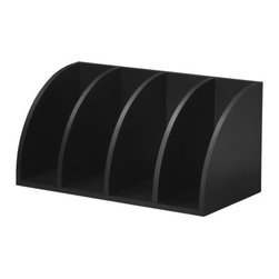 Foremost - Corner Radius Cube Black - This black finish large corner radius cube can be used vertically or horizontally. Perfect corner fit if used vertically. Used horizontally creates excellent file and book storage. Unlimited combination options so you can create exactly the system you need.