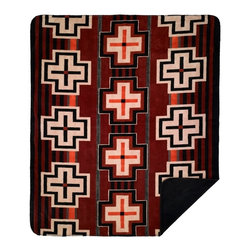 Throw Blanket Denali Bounty Red/Black - Denali micro plush throws are considered the Cadillac of throws due to their rich colors and soft feel. These throws are softer and warmer than fleece.