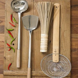 Traditional Wok Tool Set - We love to cook in our wok and have the full line of wok cooking tools which make a huge difference.