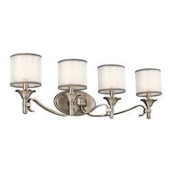 Kichler Lighting - Kichler Lighting 45284AP Lacey Antique Pewter 4 Light Vanity - Kichler Lighting 45284 Lacey 4 Light Vanity