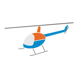 My Wonderful Walls - Helicopter Stencil for Painting - - Helicopter stencil