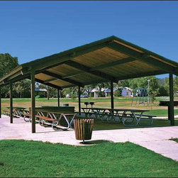 Fifthroom - 30' x 60' Steel Frame Gable Rectangular Savannah Pavilion -