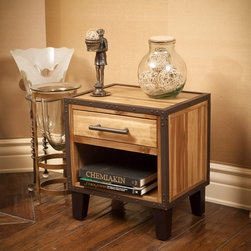 Christopher Knight Home - Christopher Knight Home Luna Acacia Wood Night Stand - Made from acacia wood with an iron frame,this stand can double as both a storage and design element. With neutral colors and an industrial touch this night stand will compliment any bedroom decor it is placed next to.