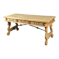 Spanish Antique Desk In Bleached Oak - The HighBoy, Paragon Antiques