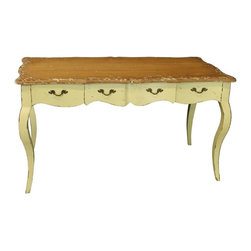EuroLux Home - New French Country Desk Oak Three Drawers - Product Details