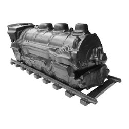 John Wright - Black Matte Train Steamer - Get your dry room back on track with this clever cast iron steamer. Part humidifier, part stovetop decoration, this trusty train keeps your home's humidity chugging along.
