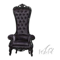 ACME Furniture - Raven Black Finish Accent Chair - 59141 - Raven Collection Side Chair