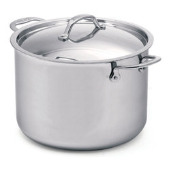 Cuisinox - Cuisinox Elite 11 qt Covered Stock Pot - The high luster mirror finish combined with the arched top lid gives this Stock pot its unique look and style. Stainless steel rivets permanently attach our cast stainless steel handles. A pure 18/10 stainless steel assures long-lasting brilliance and easy maintenance. Our 3-ply Surround-Heat technology distributes heat evenly and efficiently.