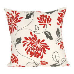 "Wayborn - Wayborn Decorative Pillow  17"" x 17"" in Beige and Red - Wayborn - Throw Pillows - 111312 - The Wayborn Decorative Pillow is perfect to enhance your living room or bedrooms d��cor. Mix and match with other Wayborn pillows to create that personal touch."