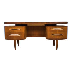 Floating Teak Desk or Vanity by G plan. Design by V B Wilkins - Maker: G Plan