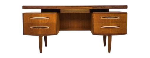 Floating Teak Desk or Vanity by G plan. Design by V B Wilkins - Maker: G Plan
