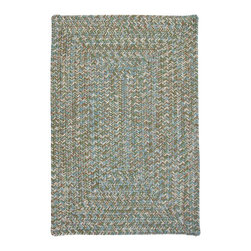 Colonial Mills, Inc. - Indoor/Outdoor Corsica, Seagrass Rug, 3'X5' - This stylish update of the classic braided rug is made of 100 percent polypropylene, for durable wear and easy care. The soft, heathered color palette blends beautifully with a variety of interiors, and the reversible construction adds extra life. Great for spots where you want something casual and durable but still sophisticated.