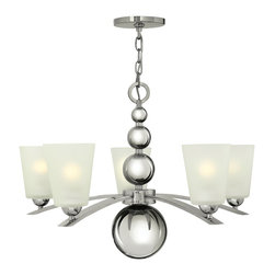 Hinkley Lighting - Hinkley Lighting Zelda Modern/ Contemporary Chandelier X-NP5443 - Zeldas striking mid-century silhouette features four spheres that increase in size as they descend from the top loop creating an elegant seamless center column.