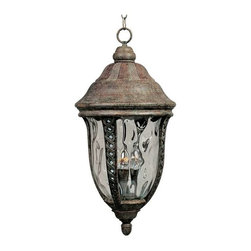 Maxim Lighting - Maxim Whittier Cast 3-Light Outdoor Hanging Lantern Earth Tone - 3111WGET - Whittier Cast is a traditional, European style collection from Maxim Lighting Interior in Earth Tone finish with Water Glass.