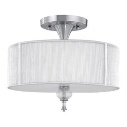 World Imports - World Imports 8273-37 Bayonne Brushed Nickel Semi-Flush Mount - World Imports 8273-37 Bayonne Nickel Semi-Flush Mount