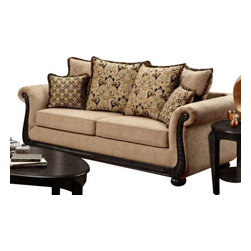 Chelsea Home Furniture - Chelsea Home Lily Sofa in Delray Taupe - Lily sofa in Delray taupe belongs to Verona I collection by Chelsea Home Furniture