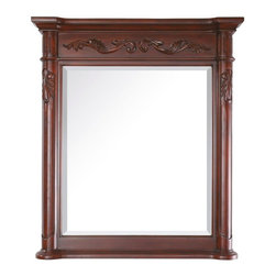 Avanity - Avanity Mirrors Provence 34 in. L x 30 in. W Wall Mirror in Antique Cherry - Shop for Decor at The Home Depot. The Provence 30 in. x 34 in. poplar wood framed mirror features an antique cherry finish with French details. It matches the Provence vanities for a coordinated look and includes mounting hardware that makes leveling easy. The mirror hangs vertically. Color: Antique Cherry.