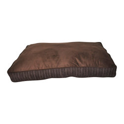 Loom and Mill - Loom and Mill DB0018 Dark Brown Corduroy Rectangle Pet Bed - Help your pet get extra cozy in this over-stuffed large dog bed. Made with the highest of quality fabric, this pet bed is velvety soft and over-stuffed for extra comfort. Your large pet will love this fabulous animal bed. Spot clean only.