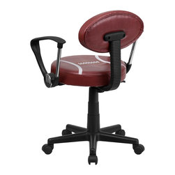 Flash Furniture - Flash Furniture Office Chairs Kids Sport Task Chairs X-GG-A-TOOF-1816-TB - Bring your favorite sport to the desk with this Football Inspired Office Chair that is perfect for all young football fans! The uniquely shaped football back makes this chair stand out. This chair is upholstered in vinyl material for easy cleaning. With an affordable price tag it is sure to please the young football fan in your home. [BT-6181-FOOT-A-GG]