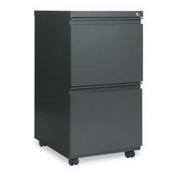 Alera - Alera Mobile 2 Drawer Pedestal File with Casters and Full Length Pull - ALEPB542 - Shop for File and Storage Cabinets from Hayneedle.com! The Alera Two-Drawer Mobile Pedestal File with Casters and a Full-Length Pull provides your office space with a versatile organizing component. This two-drawer cabinet is fully mobile as it features recessed casters for ease of transport. A legal conversion bar is included for letter- or legal-size filing. Available in a 19.25-inch depth or a 23-inch depth and featuring several color options this mobile pedestal file allows you to completely customize your cabinet to fit your current office needs.