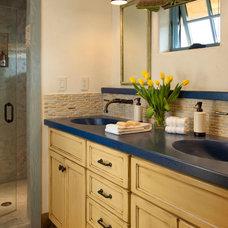 Farmhouse Bathroom by StoneHorse Design, Inc.